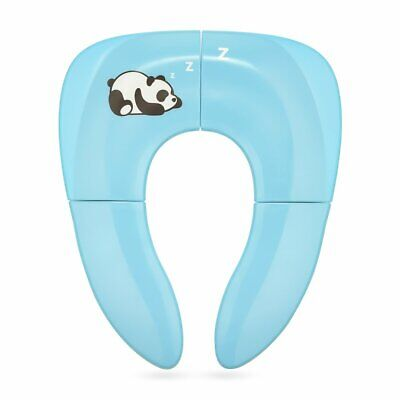 Foldable Travel Potty Seat for Babies Toilet Training w/ Carrying Bag (Blue)