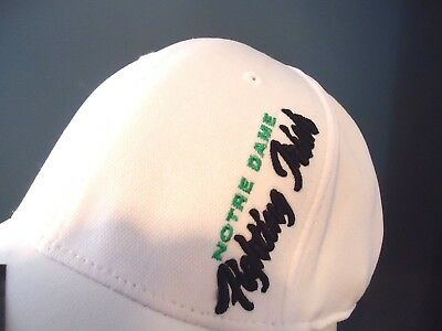 the latest a4ced b3e02 Notre Dame Wedge One-Fit Leprechaun White Hat Cap Brand New Top Of The World