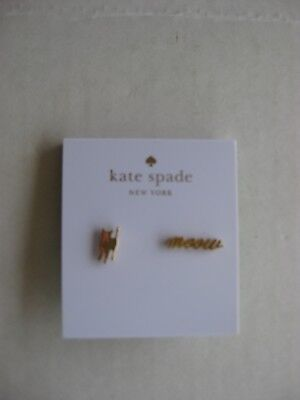 NWT Kate Spade New York Cat Meow Gold Plated Earrings w/ Dust Bag SALE!!!