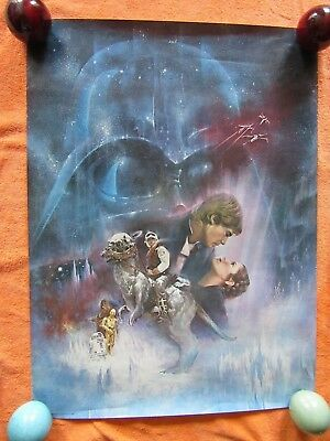 """Vintage 1980 Star Wars Empire Strikes Back 20"""" X 27"""" Poster Excellent Very Rare"""