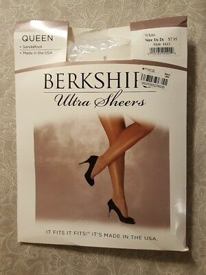 ec18c04fa34 New Berkshire Queen Ultra Sheer Sandalfoot Hosiery 4413 Pantyhose 1X-2X  Queen