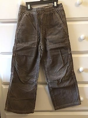Mini Boden Boys 6 Sailing Trousers Cords Corduroy Pants Taupe Euc Elastic Waist