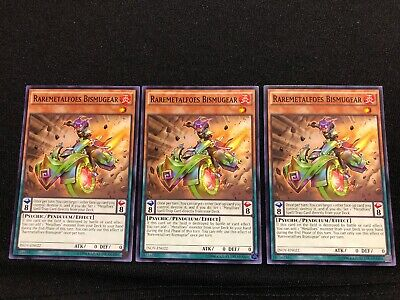 X3 YUGIOH RAREMETALFOES BISMUGEAR INOV-EN022 COMMON 1ST NM