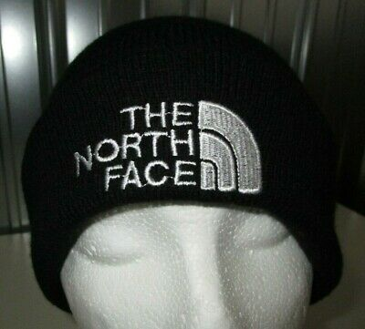 NICE The North Face TNF Black White Logo Knit Beanie Knit Hat Cap Adult Unisex