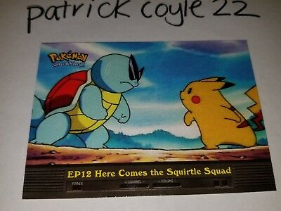 EP12 Here Comes the Squirtle Squad 2000 Topps Pokemon Series 2 Episode Card Losse kaarten