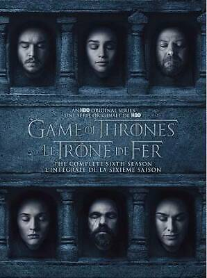 Game of Thrones seasons  6 and 7 DVD 9-Disc 18 episods 2 separate 5,4 discs sets