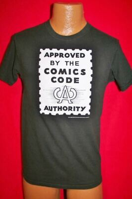 COMICS CODE AUTHORITY Stamp Black T-SHIRT S Marvel DC Comic Book