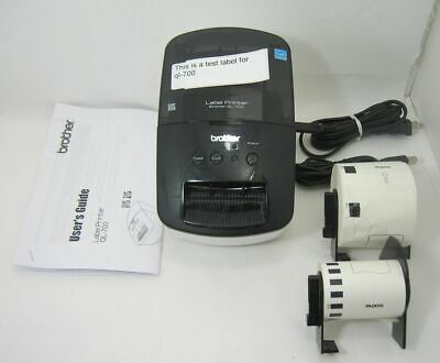 Brother QL-700 Label Printer with Extra Labels, Power Cord & USB Printer Cable.