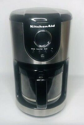 KitchenAid KCM111OB Automatic 12-Cup Programmable Coffee Maker Black Stainless