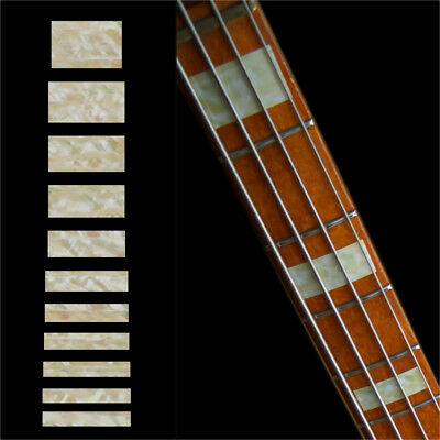 Inlay Stickers Decals Fret Markers For Guitar & Bass Jazz Bass Block Fender -AWP