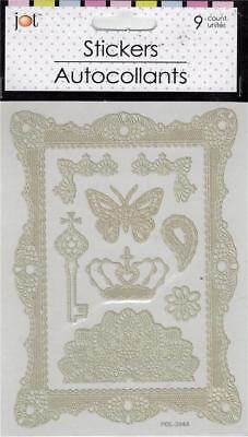Lace-look Laser Cut (Self-stick) Frame Etc (9 total)