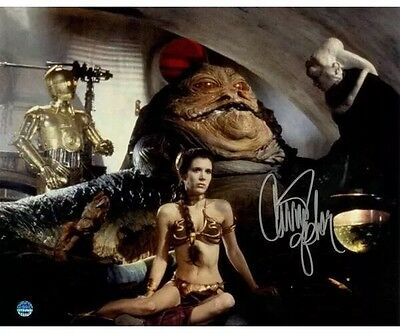 CARRIE FISHER Signed STAR WARS 8x10 Photo Princess Leia Autographed Steiner COA