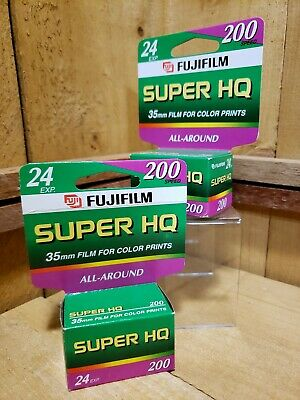 Fujifilm  35mm Film for Color Prints 200 Speed 24 Exp 2 Rolls exp 02/05 & 11/04