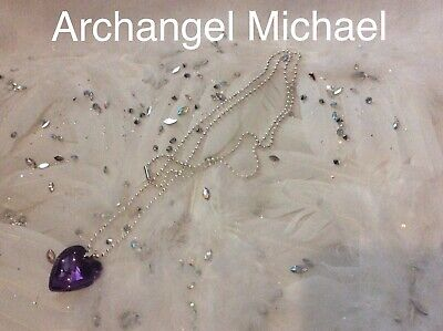 Code 609 Love Charged n Infused Necklace Archangel Michael Guiding You Hearta