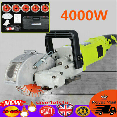 Heavy Duty 4000W Electric Wall Chaser Saw Slotter Slotting Free Accessories Tool