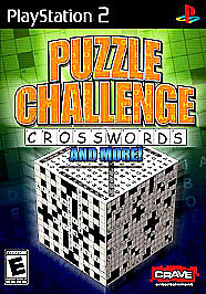 Puzzle Challenge: Crosswords and More (Sony PlayStation 2, 2006) VERY GOOD