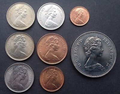 Collection Of Uncirculated Gb Coinage 1968 To 1972
