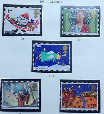 Gb 1981 Stamps -8 Sets All Mnh - All From 1981  - All Listed + Pics