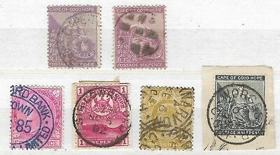 Small Collection Of Early Cape Of Good Hope Used Stamps