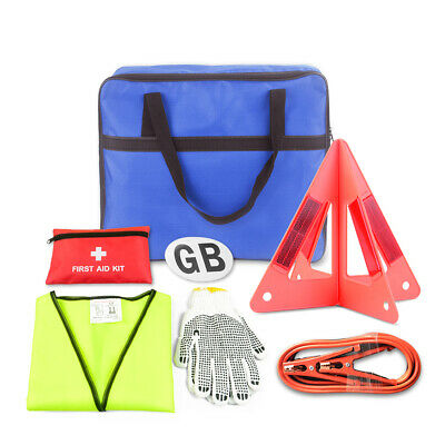 Car Breakdown Kit Winter Travel Abroad Driving EU Emergency Triangle Safety Vest