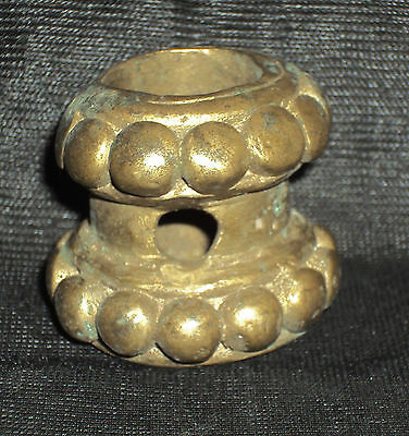 Antique Traditional Indian Ethnic Ritual Bronze  Horn Cap  #CHRISTMAS OFFER