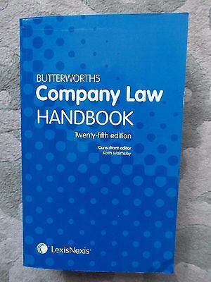 Butterworths Company Law Handbook by Keith Walmsley (Paperback, 2011)