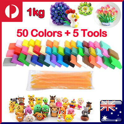 56PCS DIY Craft Malleable Fimo Polymer Modelling Soft Clay Block Plasticine Toys