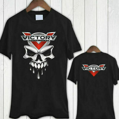 Limited New 5549-Victory Motorcycle USA SKULL Logo Design T Shirt Size S-5XL