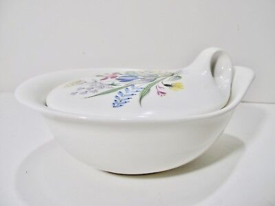 Eva Zeisel Hall China Hallcraft Bouquet Pattern Lidded Marmite Casserole Dish