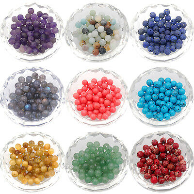 Wholesale Lot Natural Stone Gemstone Round Spacer Loose Beads 6mm 8mm 10mm