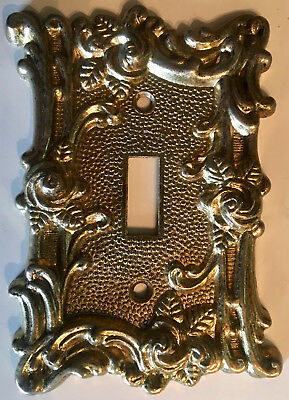 VTG 1967 American Tack & Hardware Switch Plate Cover Brass Roses * 8 Available