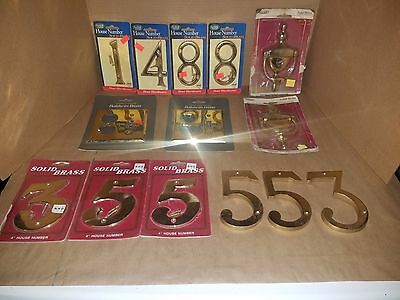 Solid Brass Door Knockers, Numbers & Outlet Plates