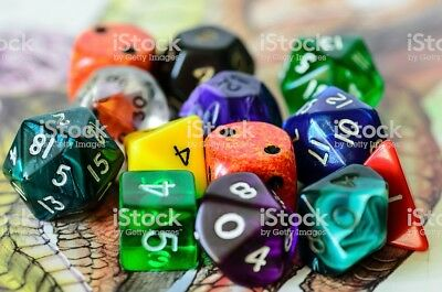 DICE SETS - DnD - $.79 per die - MAKE YOUR OWN SET -  7 ITEM MINIMUM