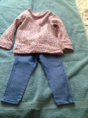 Baby Girls Top & Trousers  Age 18-24 months   NEXT/NUTMEG