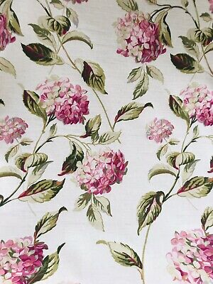 🌷Laura Ashley Hydrangea Fabric - Pink / Natural - 1m