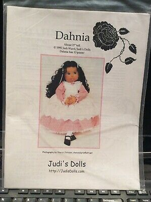 Jointed Cloth Doll Sewing Pattern 'Dahnia' By Judi Ward