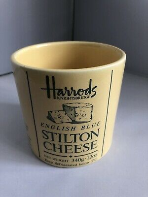 Harrods Knightsbridge English Blue Stilton Cheese Mug/ Cup Great Condition