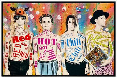 Hot Poster Red Hot Chili Peppers Rhcp American Rock Band Music