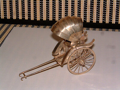 Sterling Silver Rare Hand Made Rickshaw W/Rolling Wheels & Collapsible Roof!!