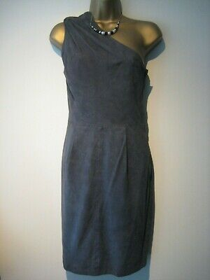 eab09f6b4a8a Jimmy Choo for H&M grey leather one shoulder dress size 34 UK ...