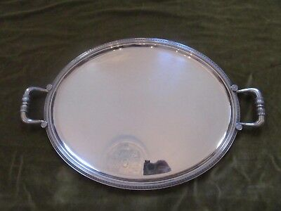 french silverplate large oval serving tray Christofle empire st malmaison