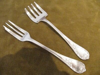 Antique french silverplate 6 dinner forks Christofle Marly d13