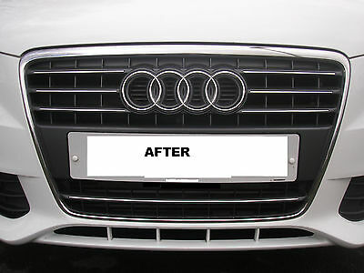 **Pre Cut Chrome Trim For Audi A4 (B8) Front  Radiator Grille 2008 - 2011** Sale