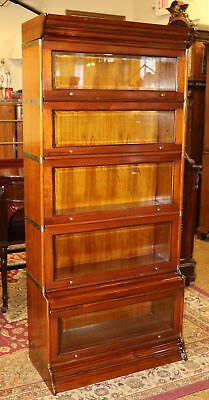 Gorgeous 7 Piece Solid Oak Beveled Glass Barrister Lawyers Bookcase MINT