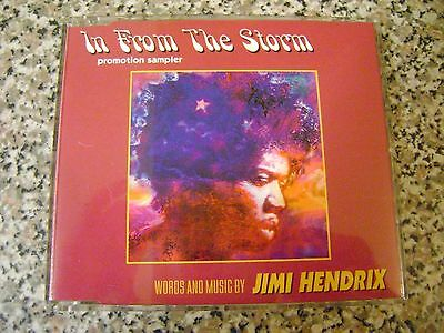 """Jimi Hendrix """"In From The Storm"""" Promo Sampler CD. (inc. Brian May)"""