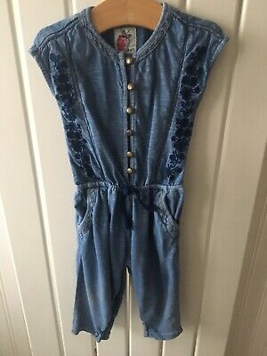 Baby Girl's Clothes 6-9 Months - Denim Look Cotton Jumpsuit Outfit By NEXT 🦋🦋