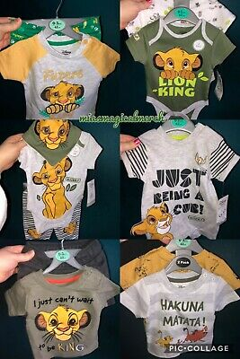 Brand New Disney Primark Lion King Baby Clothing Bodysuits Romper Outfit