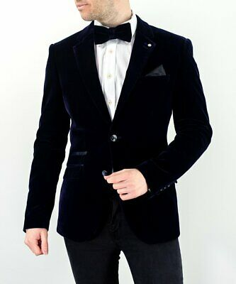Mens Velvet Designer Cavani Wedding Prom Formal Slim Fit Dinner Jacket Blazer