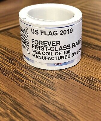 100 USPS First-Class Forever US Flag 2019 Postage Stamps (1 Roll of 100 stamps)