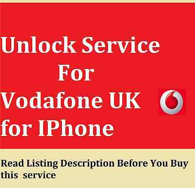 Unlock service for Vodafone UK for IPhone 11 XR X 8 7 6 PLUS  phone no needed